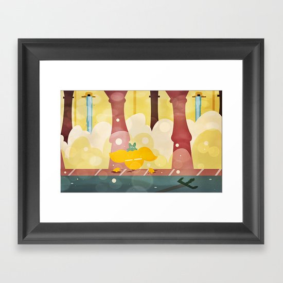 The Fountain Room Framed Art Print