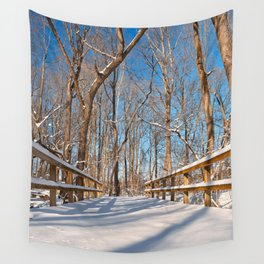 Susquehanna Winter Forest Bridge Wall Tapestry