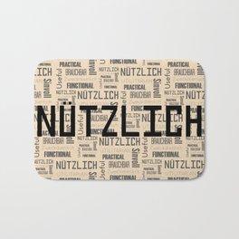 Nutzlich: Word and Pattern Bath Mat