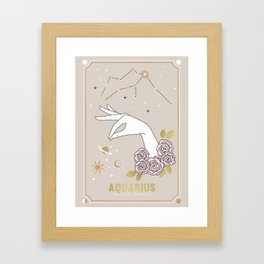 Aquarius Zodiac Sign Framed Art Print