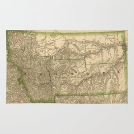 Vintage Map of Montana (1881) Rug