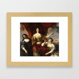 Prudence, Justice, and Peace by Jürgen Ovens, 1662 Framed Art Print
