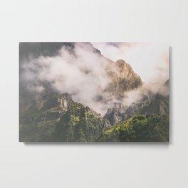 Misty Kazbkek Mounain, landscape,Georgia Metal Print