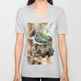 The Hummingbird Nest. © J&S Montague. Unisex V-Neck