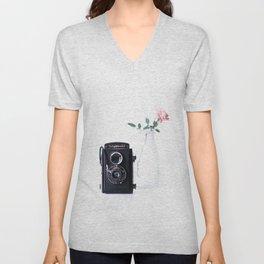vintage camera Unisex V-Neck