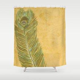 Peacock Batik Shower Curtain