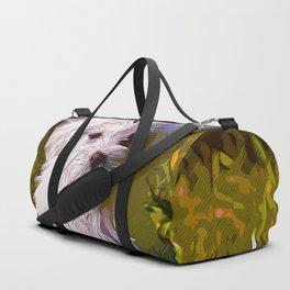maltese dog vector art Duffle Bag