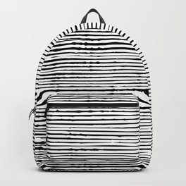 Boho, Striped Mudcloth, Black and White Backpack