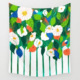 White Picket Fence Wall Tapestry