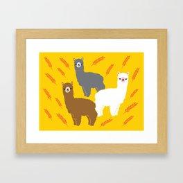 The Alpacas Framed Art Print