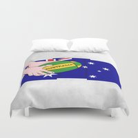rugby Duvet Covers featuring Australia Rugby Ball by mailboxdisco