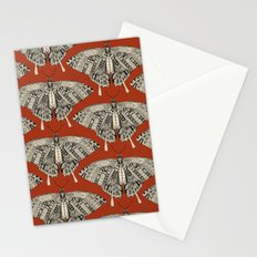 swallowtail butterfly terracotta black Stationery Cards