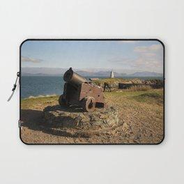 Cannon On Llanddwyn Island Laptop Sleeve