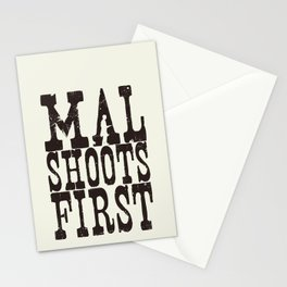 Mal Shoots First Stationery Cards