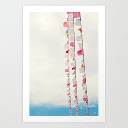 prayer flags no. 2 Art Print