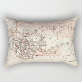 Map of Montana Territory by Charles Roeser (1879) Rectangular Pillow