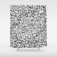 hollywood Shower Curtains featuring Old Hollywood by Jordan Kay