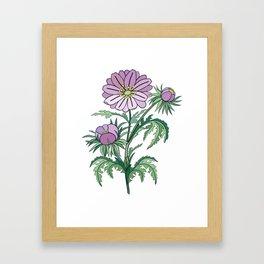 Abstract flowers branch Framed Art Print
