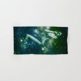 Green Teal Galaxy Girl Hand & Bath Towel