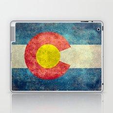 Colorado flag in Retro Grunge Laptop & iPad Skin