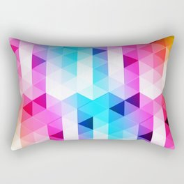 Abstract Triangle Colorful Rectangular Pillow