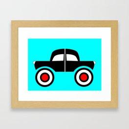 Black Car Two Directions Framed Art Print