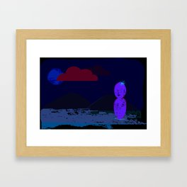 One is the loneliest cacti Framed Art Print