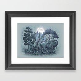 Midnight in the Stone Garden (colour option) Framed Art Print