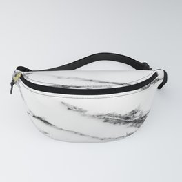 White Marble Design Fanny Pack