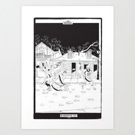 Football Tarot Card Art Print