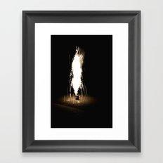 Lone Firework Framed Art Print