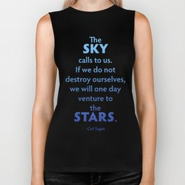 The Sky Calls to Us Biker Tank