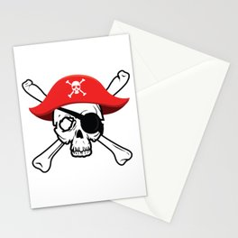 Pirate Skull and Crossbones Jolly Roger  design Stationery Cards