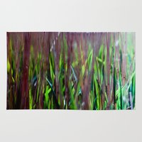 weed Area & Throw Rugs featuring weed by jmdphoto
