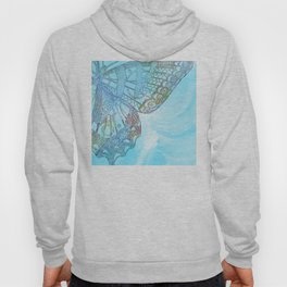 Colorful Abstract Butterfly Design Hoody