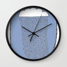 Heartly Raining Wall Clock
