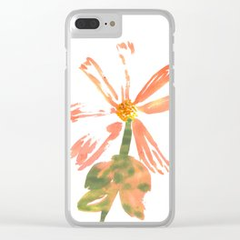 Mixed Florals Clear iPhone Case