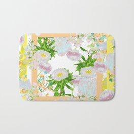 Floral Frame Collage Bath Mat