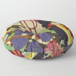A day of twelve months in Yoshiwara Floor Pillow