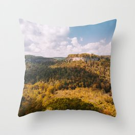 View from Chimney Top Rock - Red River Gorge, Kentucky Throw Pillow