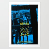 500 days of summer Art Prints featuring 500 days of Summer by Lucas Preti