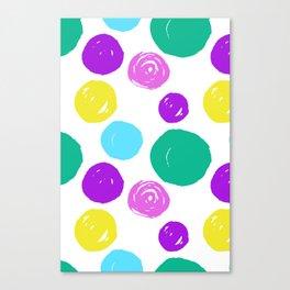 Seamless pattern circular colors Canvas Print