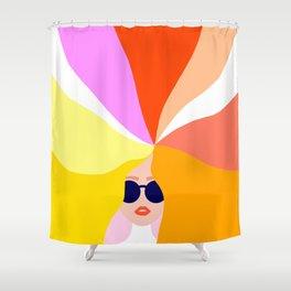 Girl Power - Rainbow Hair #girlpower Shower Curtain