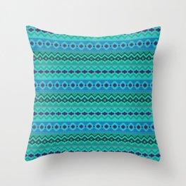Tribal Aztec Digital Embroidery Throw Pillow