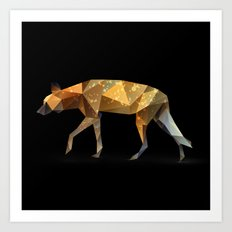 Wild African Dog. Art Print