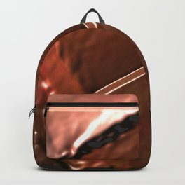 geometrical abstrac art copper colored metal texture Backpack