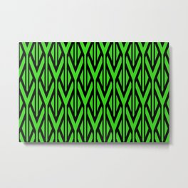 Triangles green pattern graphic Metal Print