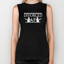 Divorced AF Ex Wife Ex Husband Relationship Break Up Unisex Shirt Biker Tank