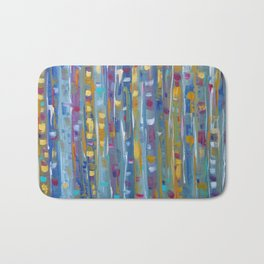 Forest Through The Trees, Abstract Aspen Tree Art Bath Mat