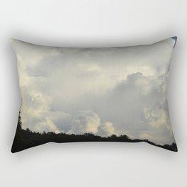 White Cloudscape Rectangular Pillow